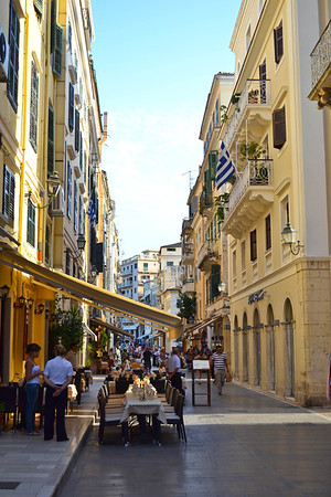 The streets of Corfu Town