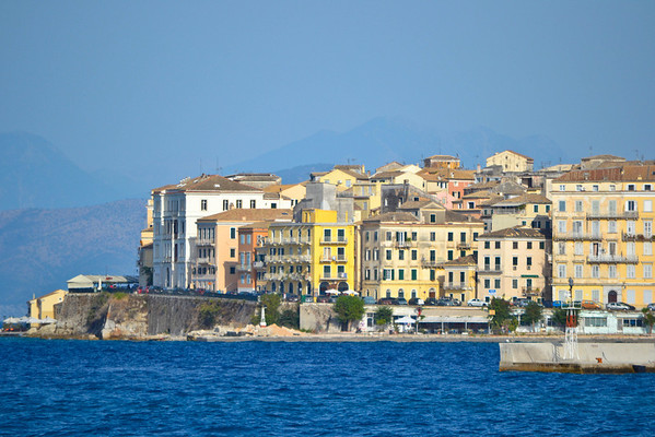 Corfu Town from the sea
